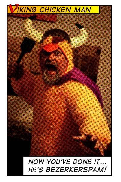Viking Chicken Man