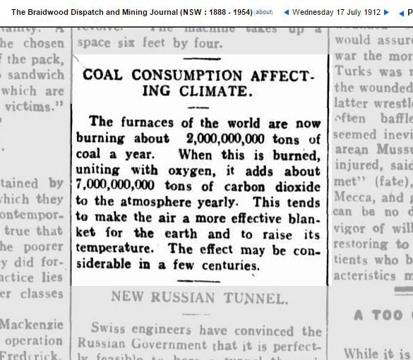 1912 coal consumption warning